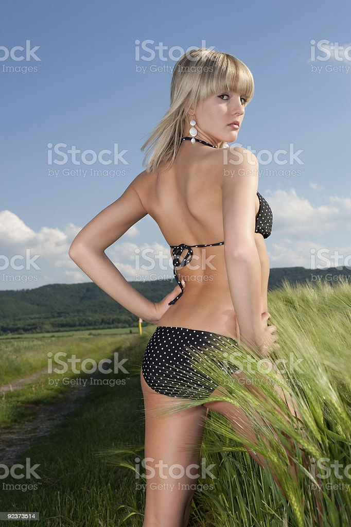 cute young blonde girl in the sun royalty-free stock photo