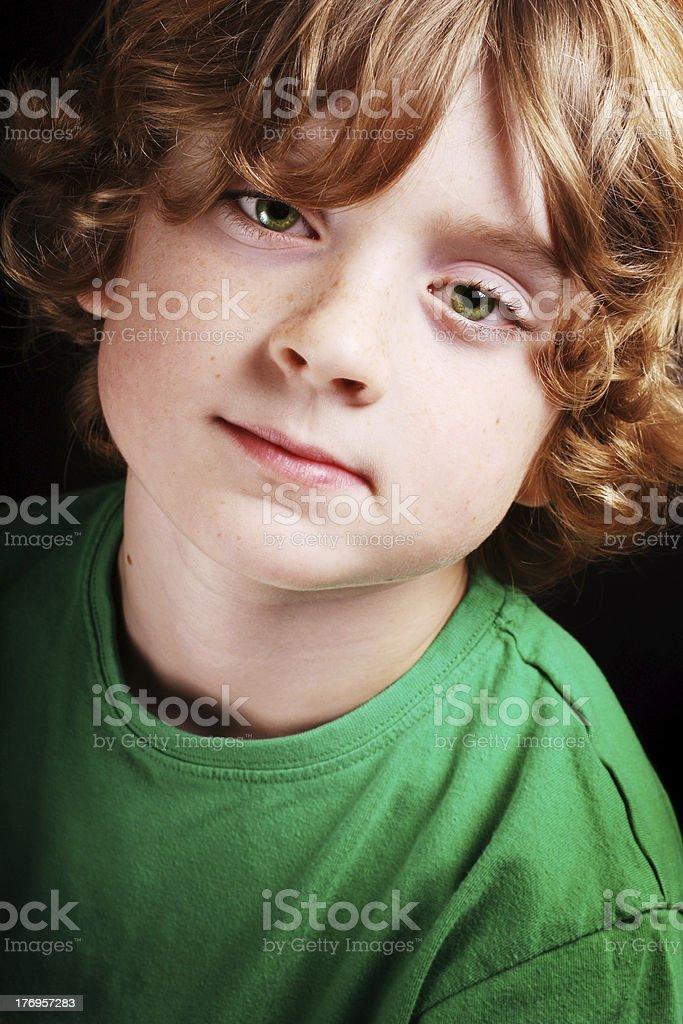 Cute young boy stock photo