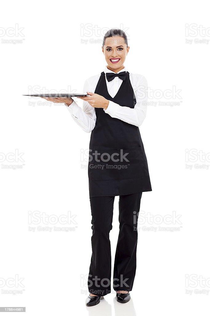cute young waitress stock photo