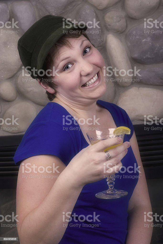 Carino giovane donna sorridente foto stock royalty-free