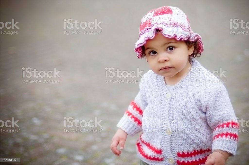 Cute17 Months Old Baby Girl Portrait royalty-free stock photo