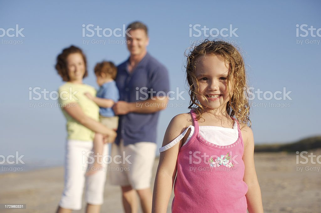 Cuteness at the beach royalty-free stock photo