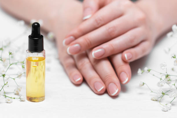 cuticle oil. - cuticle stock pictures, royalty-free photos & images