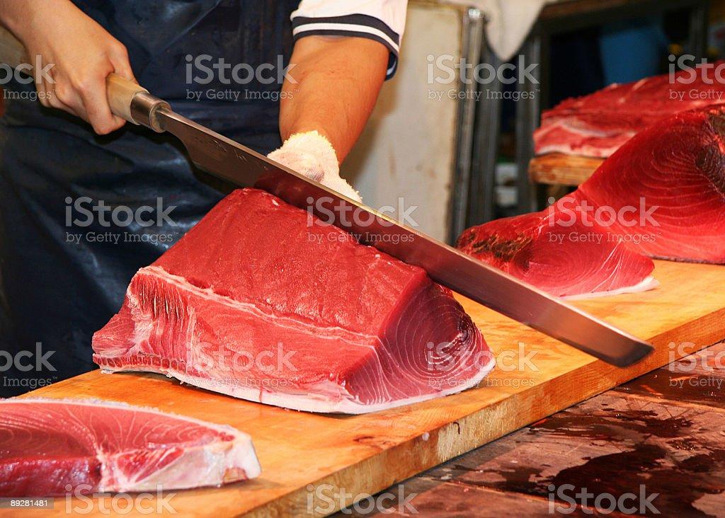 Cuting Tuna, Tokyo , Japan royalty-free stock photo