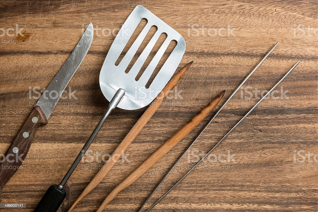 Cutlery for Barbecue stock photo