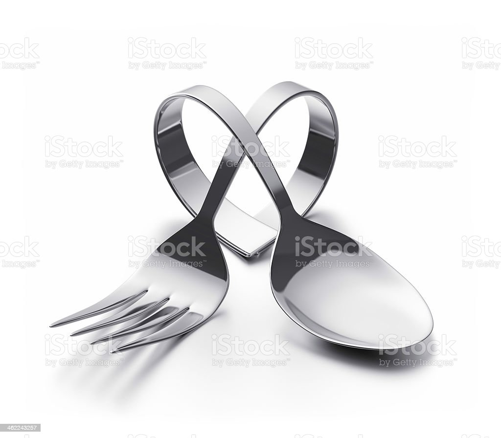 Cutlery  heart stock photo