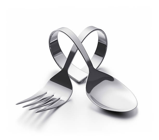Cutlery  heart stock photo