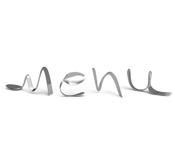Cutlery menú, logo stock photo