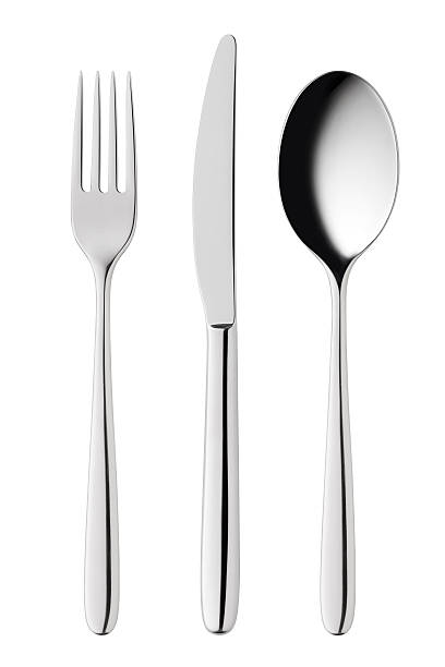 "Cutlery ""Cutlery. Fork, knife and spoon.Cutlery. Fork and spoon.Similar pictures from my portfolio:"" fork stock pictures, royalty-free photos & images"