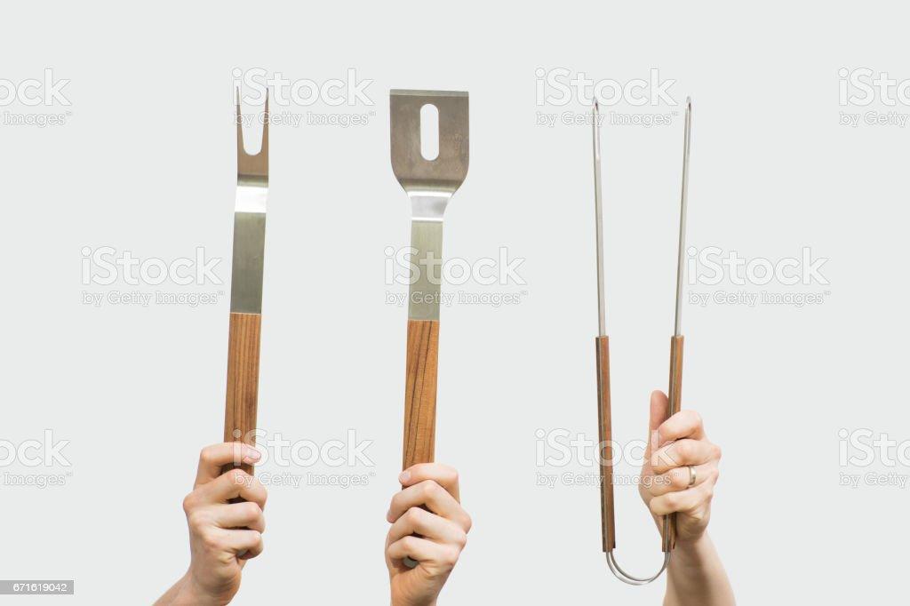 BBQ Cutlery stock photo