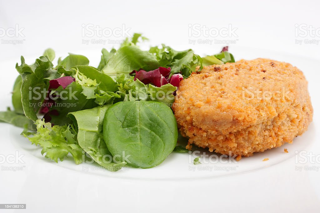 Cutlet with salad royalty-free stock photo