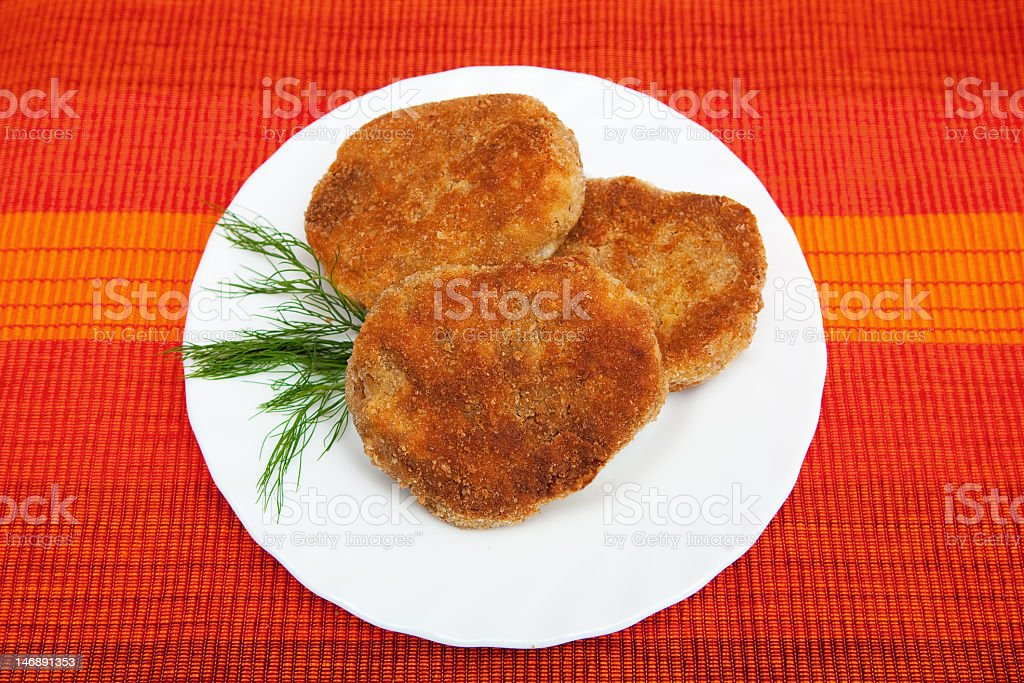 Cutlets royalty-free stock photo