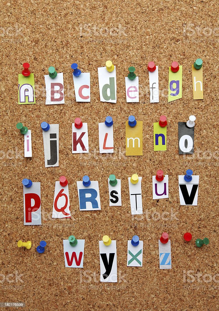 Cutout letters alphabet royalty-free stock photo