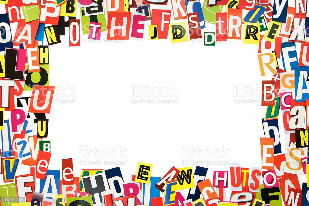 Cutout Letters Frame Stock Photo & More Pictures of Alphabet | iStock