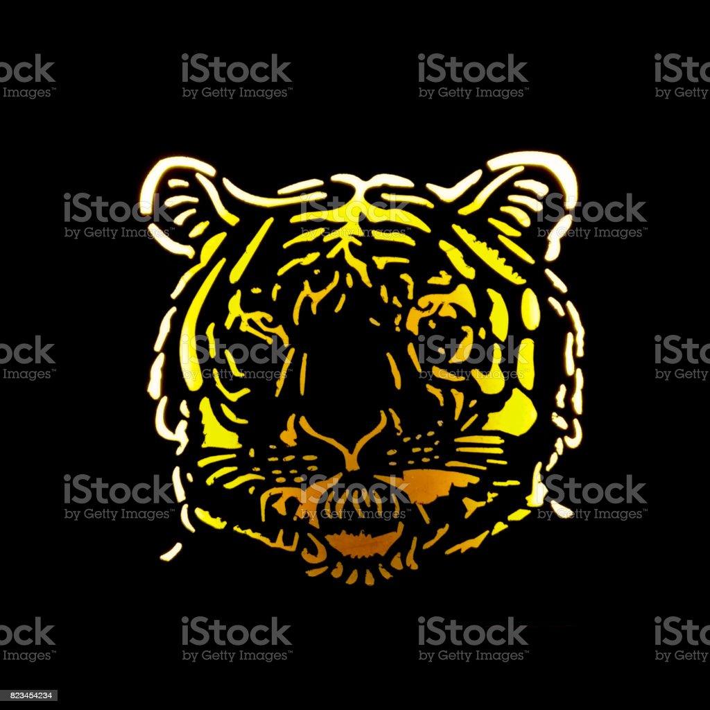 cutout of a tiger face stock photo