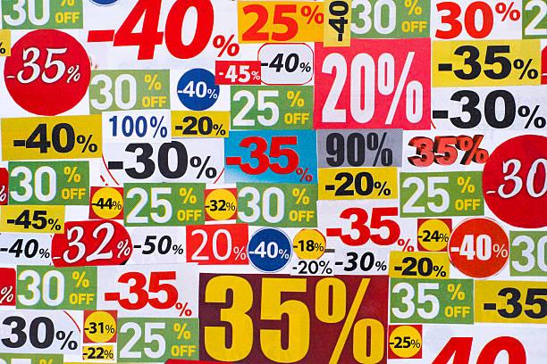 Cutout sale discounts stock photo