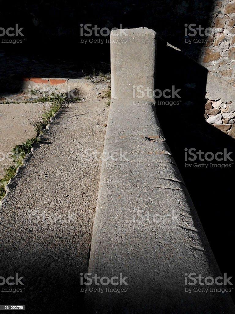 Cuts On The Cement stok fotoğrafı