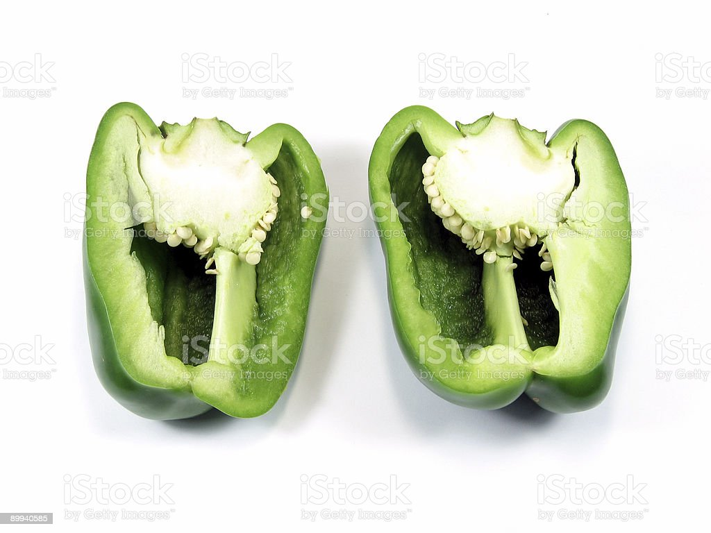 Cutted green pepper royalty-free stock photo