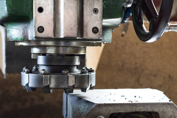 Cutter for metal working. Close-up photo Cutter for metal working. Close-up photo. Vertical milling machine. miller park stock pictures, royalty-free photos & images