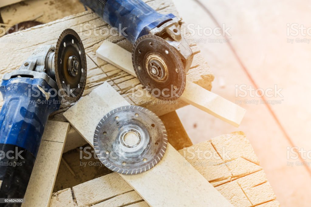 CONCRETE cutter machinary tool construction concept stock photo