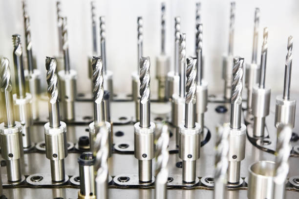 Cutters for milling machine stock photo