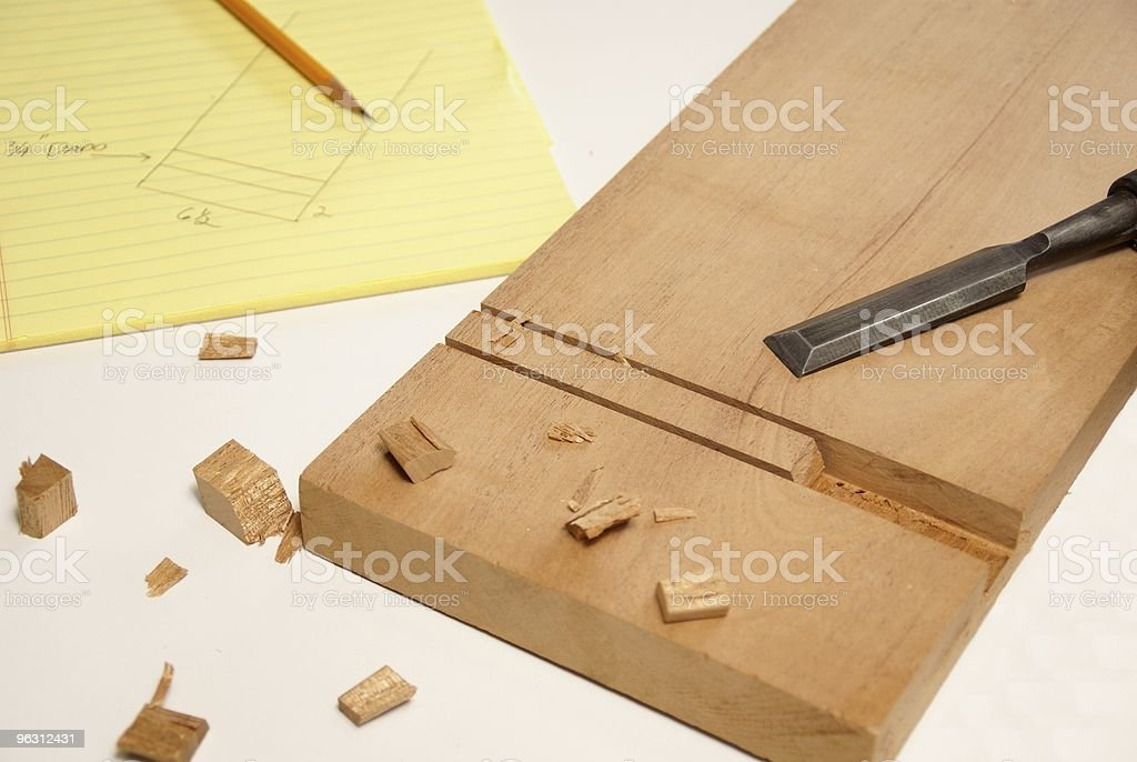 Cutting a Dado royalty-free stock photo