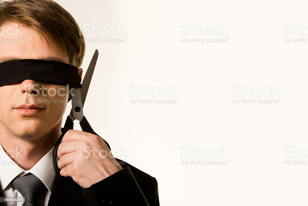 Cutting band stock photo