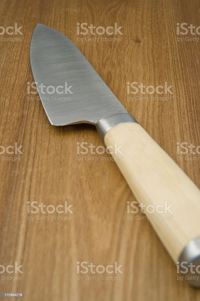 Tabla de cortar y cuchilla foto de stock libre de derechos