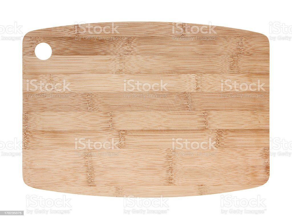 Cutting Board isolated (Clipping Path!) isolated on white background royalty-free stock photo