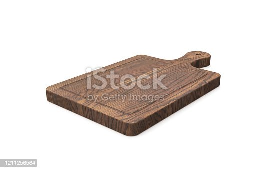 cutting board isolated on white background Copy space stock photo