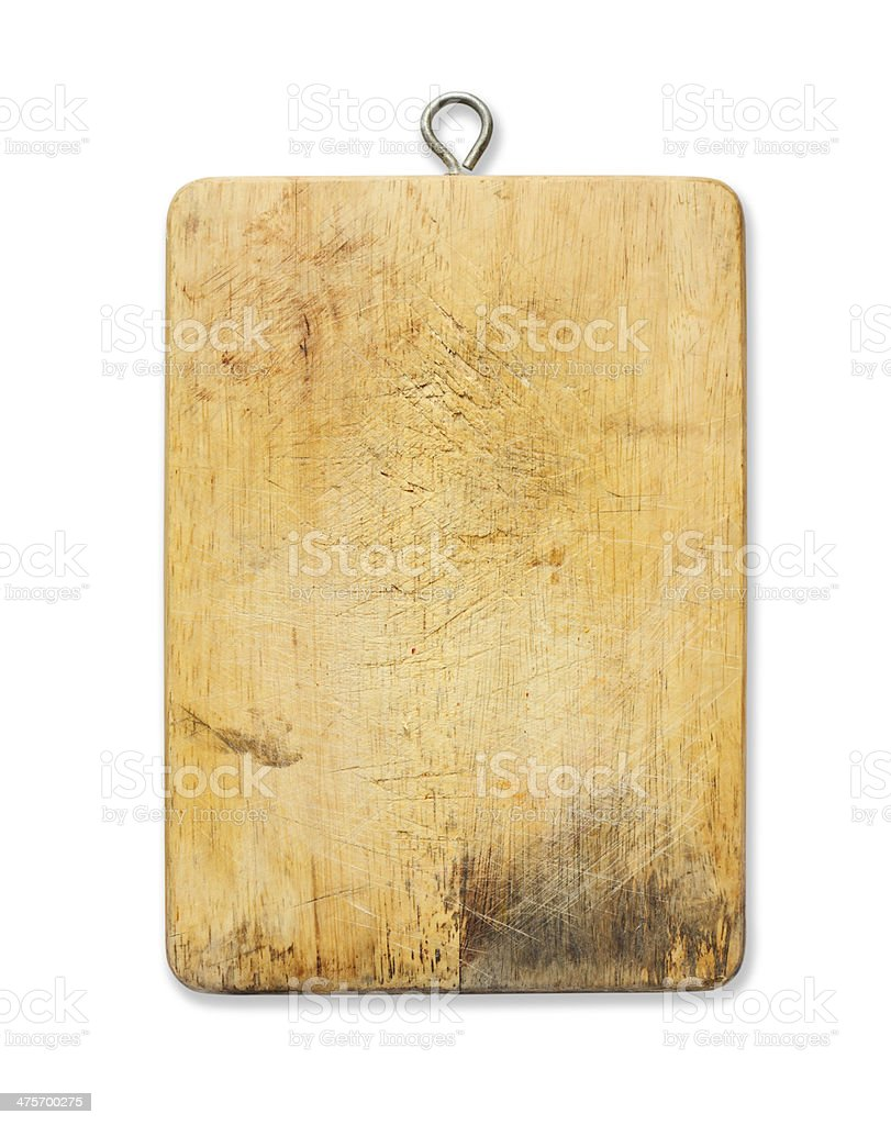 Cutting board isolated on white background royalty-free stock photo