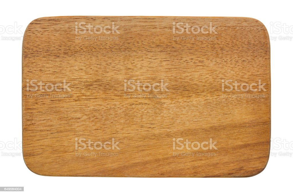 Cutting board isolated on white background. stock photo