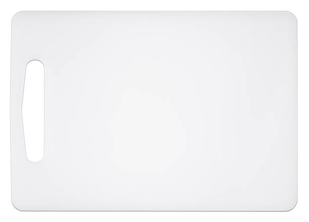 Cutting board on a white background stock photo