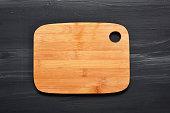 Cutting Board on Black Wood
