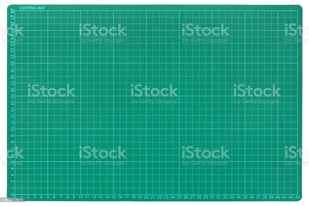 Cutting board surface on white. stock photo