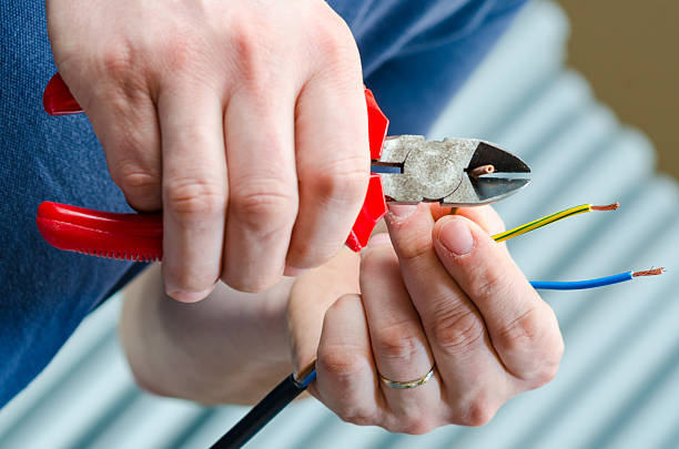 Cutting cable stock photo