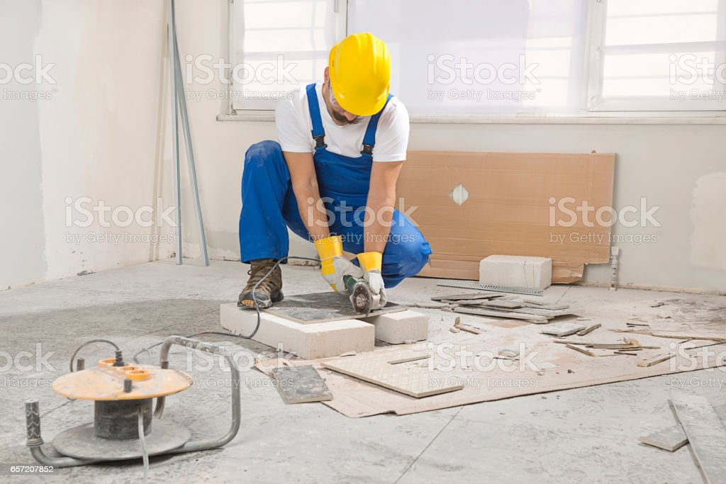Cutting Ceramic With Side Grinder Stock Photo 657207852 Istock