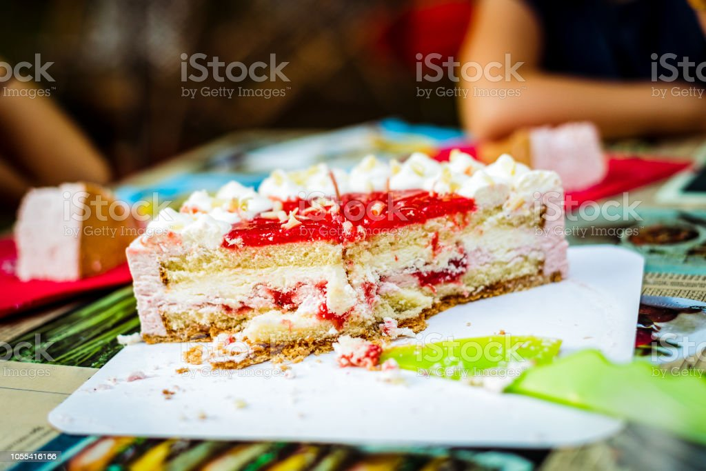 Fine Cutting Children Birthday Cake At Kid Birthday Celebration Stock Funny Birthday Cards Online Alyptdamsfinfo
