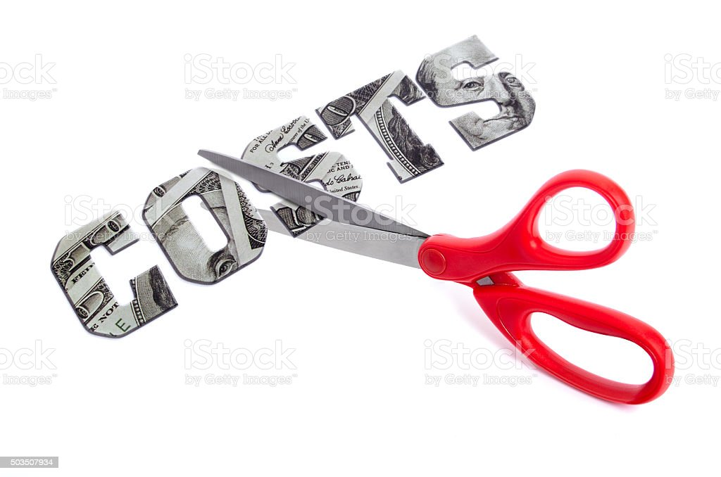Cutting costs stock photo