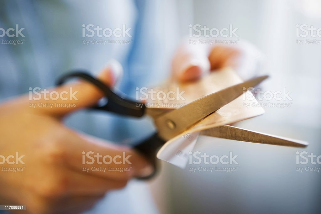 Cutting Credit Card royalty-free stock photo