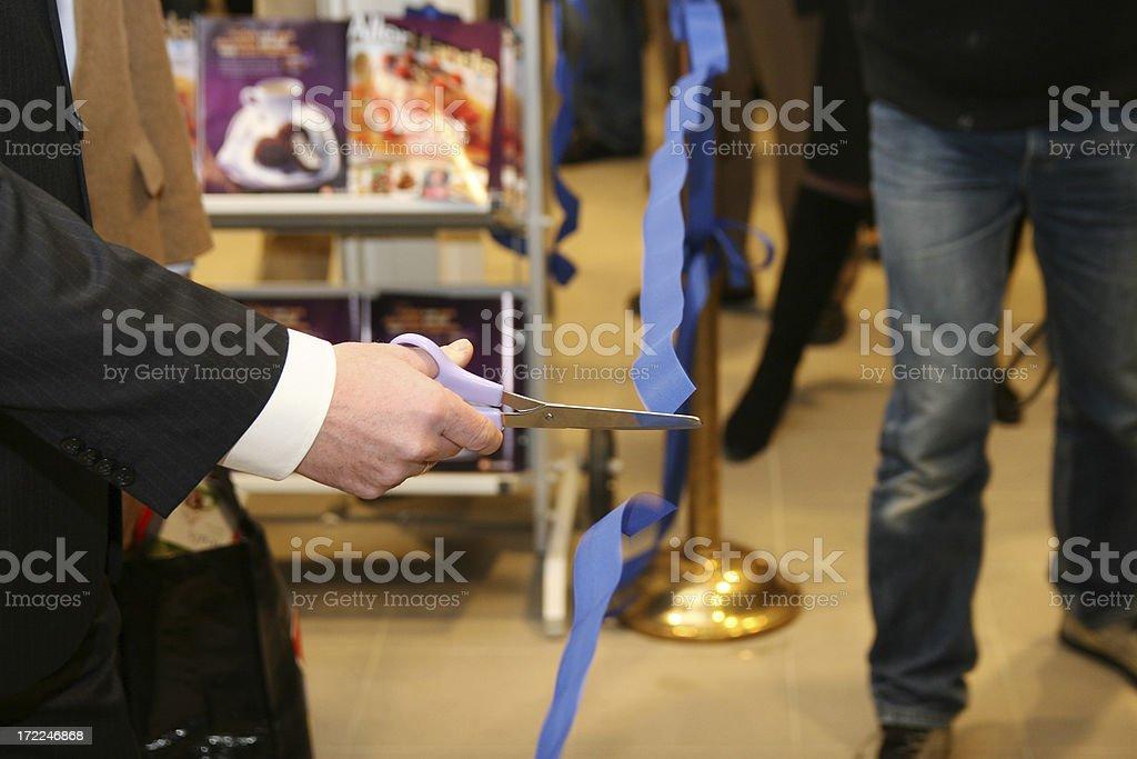 Cutting de ribbon 2 royalty-free stock photo