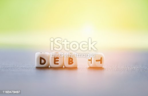 Cutting debt / get out of debt concept