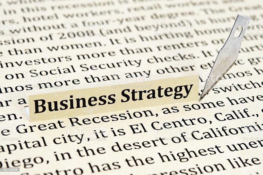 Modernste business-Strategie Lizenzfreies stock-foto