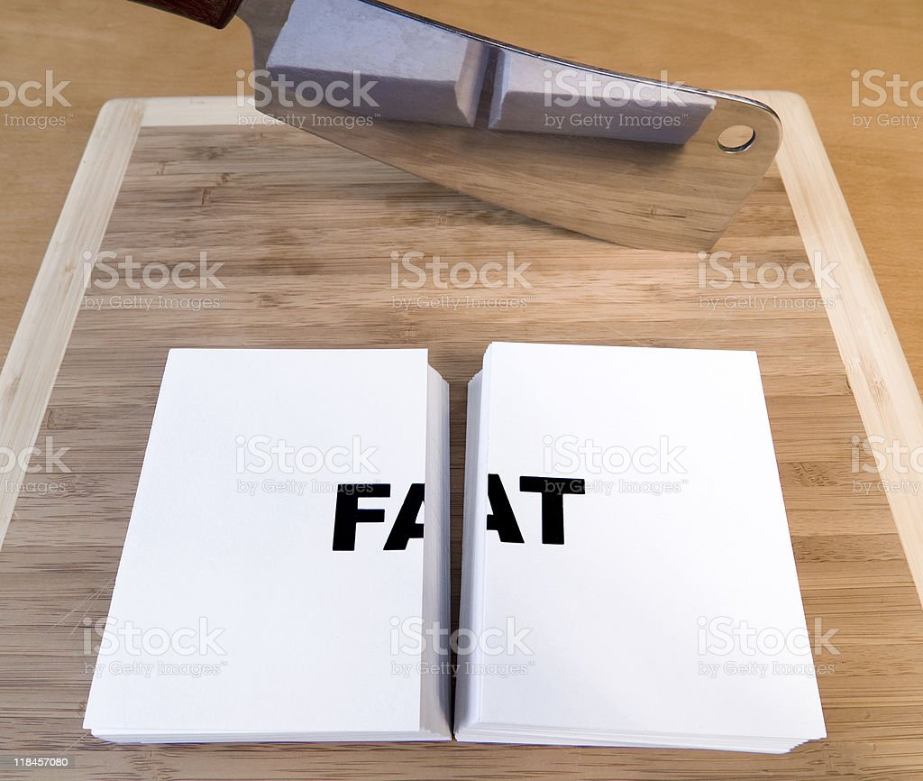 Cutting Fat royalty-free stock photo