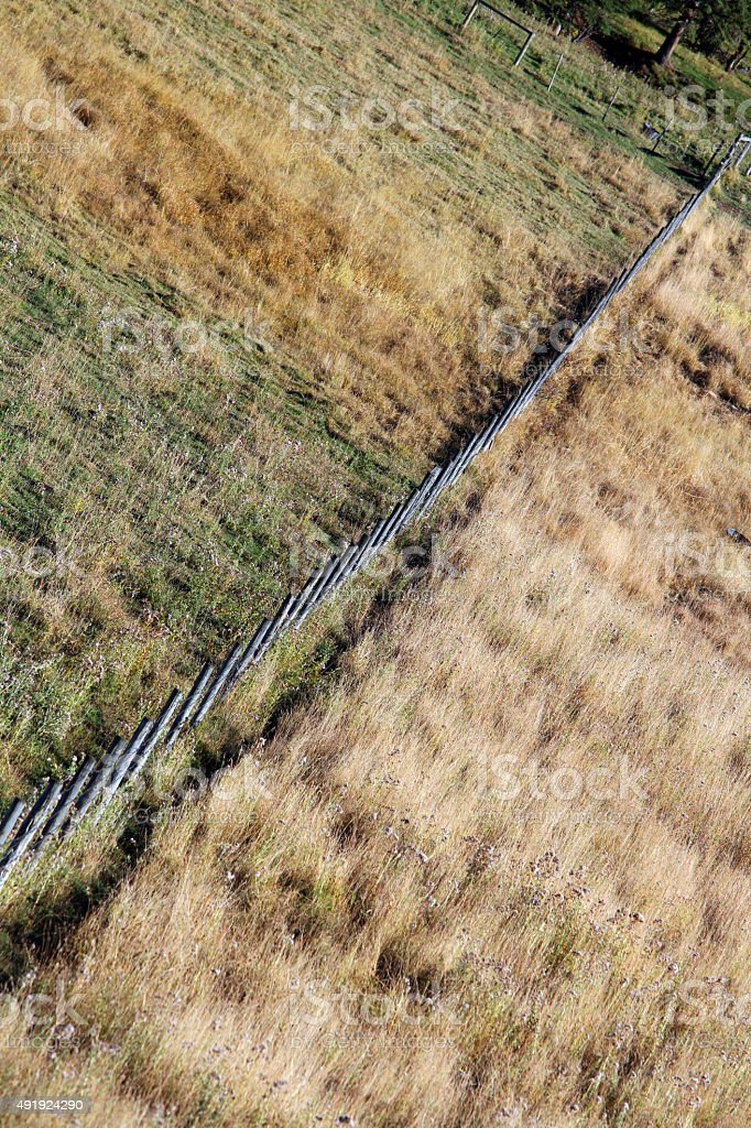 Cutting Fence stock photo