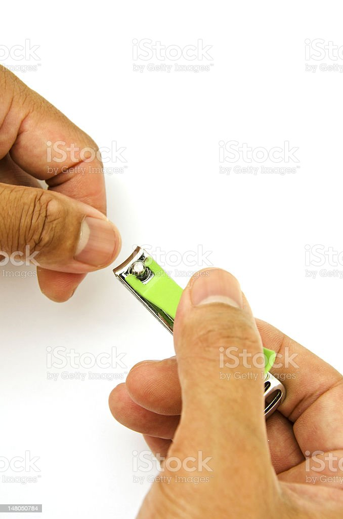 Cutting Fingernail royalty-free stock photo