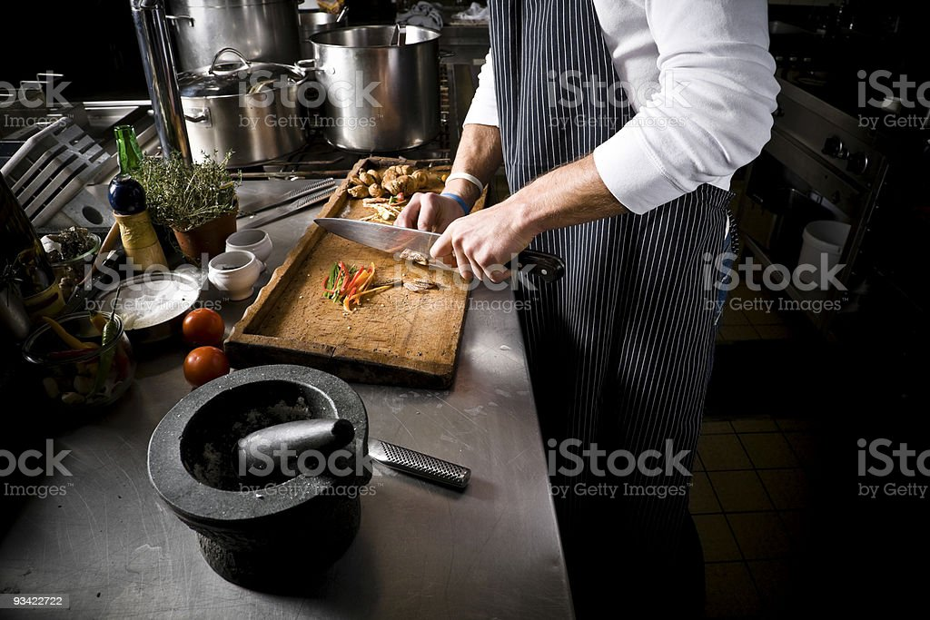 cutting food royalty-free stock photo