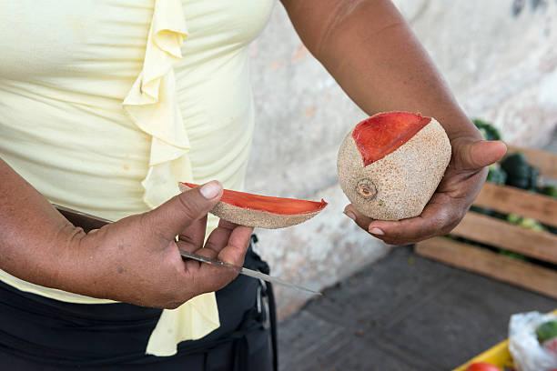 Cutting fruit stock photo