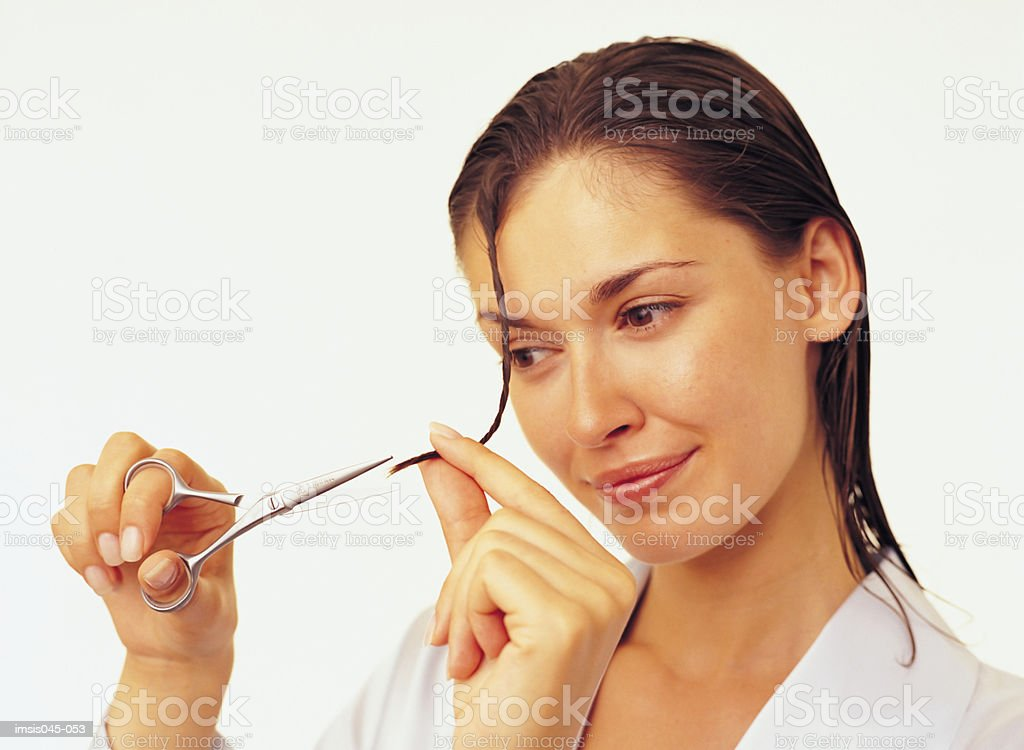 Corte de cabello foto de stock libre de derechos