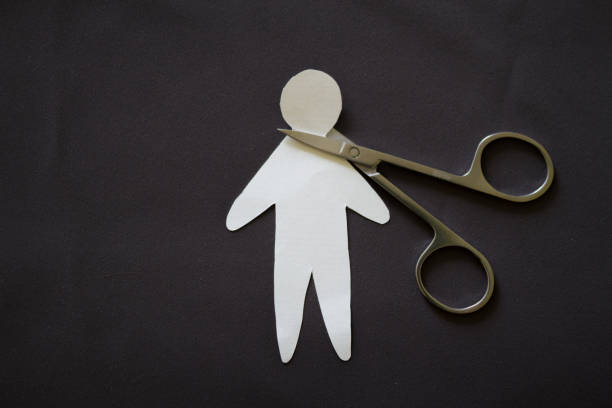 紙人切割頭 - 被砍頭 個照片及圖片檔